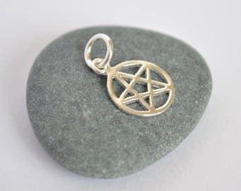 Pretty Pentacle Charm / Pendant ~ Sterling Silver