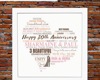 Pearl wedding anniversary - 30th pearl wedding anniversary gift, 30th wedding anniversary gift, 30th anniversary gift, 30 years of marriage