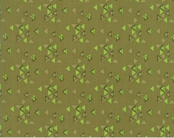 SPECTRUM Triangles in Avocado by V and Co for Moda