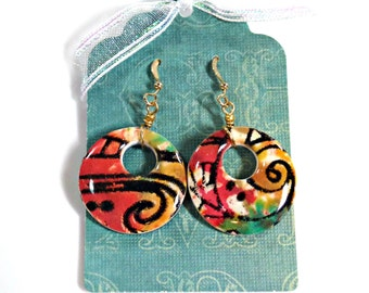 """Polymer Clay Earrings, """"Floral Fantasy"""""""