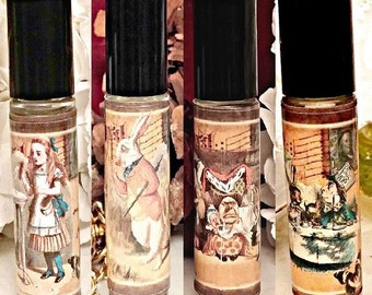 Alice in Wonderland Perfume, Alice in Wonderland Perfume Oil, Alice in Wonderland Oil, Essential Oils, Mad Hatter, White Rabbit, Red Queen