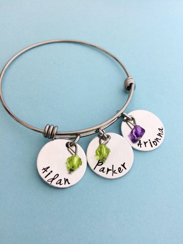 Name Bracelets Personalized Name Bracelets Mothers Day