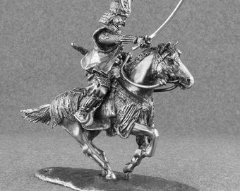 Japanese Medieval Action Figurine 1/32 Scale Knight Samurai Attacks Japanese Cavalry Toy Soldiers 54mm Metal Tin Miniature