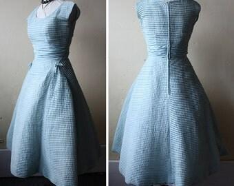 Vintage 50s Dress Mint Green Party Dress Full Skirt Adele Simpson S