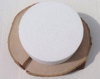 """REDUCED - Wood cake stand (E) 11"""" x 10.5"""""""