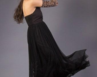 Strapless Black Summer Dress