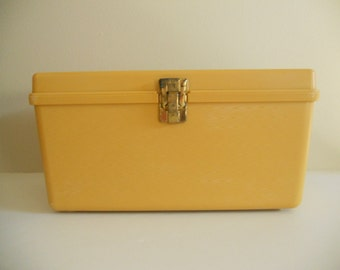 Medium Wilson Wil-hold Gold Sewing Caddy with Matching Inside Tray