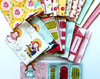 Farm Fabric Fat Quarter Bundle, Riley Blake  Farm Girl Vintage, Fabric Bundle of 21 Fat Quarters, Cotton Quilt Fabric Bundle, Country Fabric