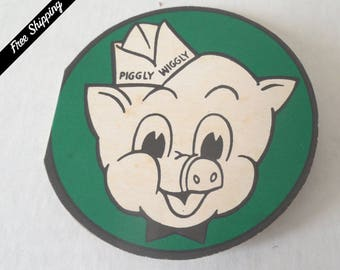 Vintage Advertising Needle Card//PIGGLY WIGGLY//S&H Green Stamps//Assorted Needles