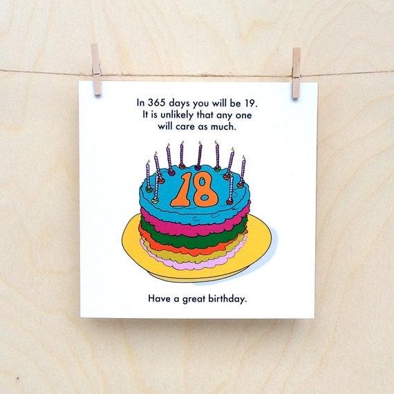 Funny 18th Birthday Card Funny 18 Rude 18th 18th Birthday