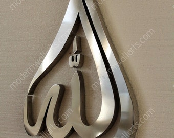 Stainless Steel Allah Tear Drop