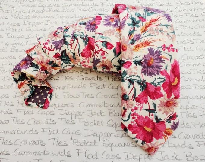 Featured listing image: Floral tie, ties for men, wedding tie