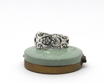 floral ring, swedish ring,  flower ring, spoon ring