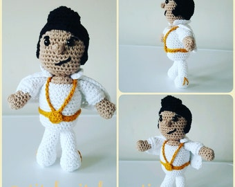 Elvis Presley (The King) Crochet Doll Pattern - Amigurumi PDF instant download