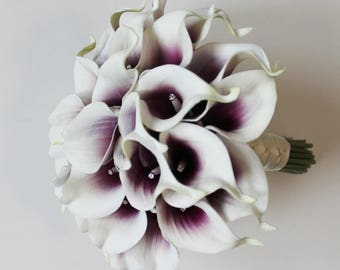 Wedding Bouquet Picasso Calla Lilly Bouquet Bridal Bouquet Picasso Bouquets Wedding Bouquets Purple Bouquets  Calla Lily Wedding Bouquet
