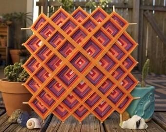 Sacred Geometry, a 12 inch, cotton yarn, tibetan mandala Ojo de Dios by Raychal