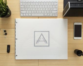Classic Glossy White 11x14 - Portfolio Book Case 11X14 Landscape - screw post portfolio - Book Presentation - Classic Glossy White 11x14