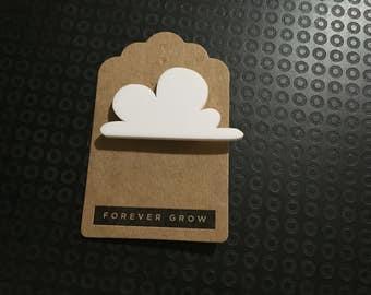 Cloud acrylic laser cut brooch