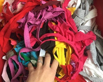 FREE fabric scraps! Just pay shipping! Fabric Scraps / recycled fabric / upcycled / craft supply / Stuffing / Pillow Filler