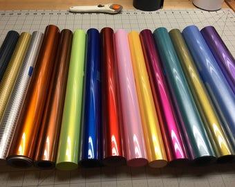 Electric HTV Vinyl, Siser EasyWeed, 12x15, HTV, Iron On, Heat Press Heat, Transfer Vinyl, Craft Vinyl Sheets, Vinyl Bundle, Metallic, Gloss
