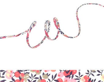 Wiltshire Pois de senteur Liberty ribbon, fabric jewellery making supplies, pink cotton cord for crafting or gift wrapping