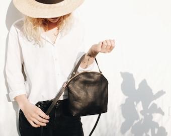 Blogger Bag, Leather Bag, Black Bag, Minimalist Bag, Boho Bag, Gift for her, Birthday Present, Wedding Bag, Evening Bag, CURVE BAG