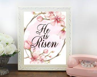 He is Risen-8x10 Digital Printable- Easter