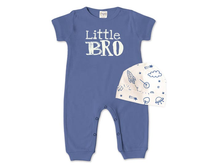 Baby Boy Outfit, Newborn Boy Romper, Blue Baby Boy Coming Home Outfit, Little Brother, TesaBabe RC860IO000344