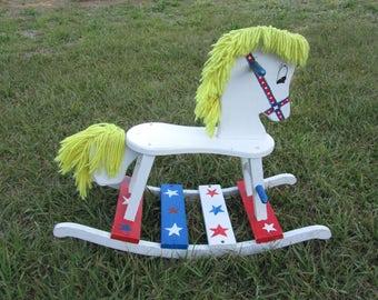 Vintage  Child Rocking Horse / Child Toy