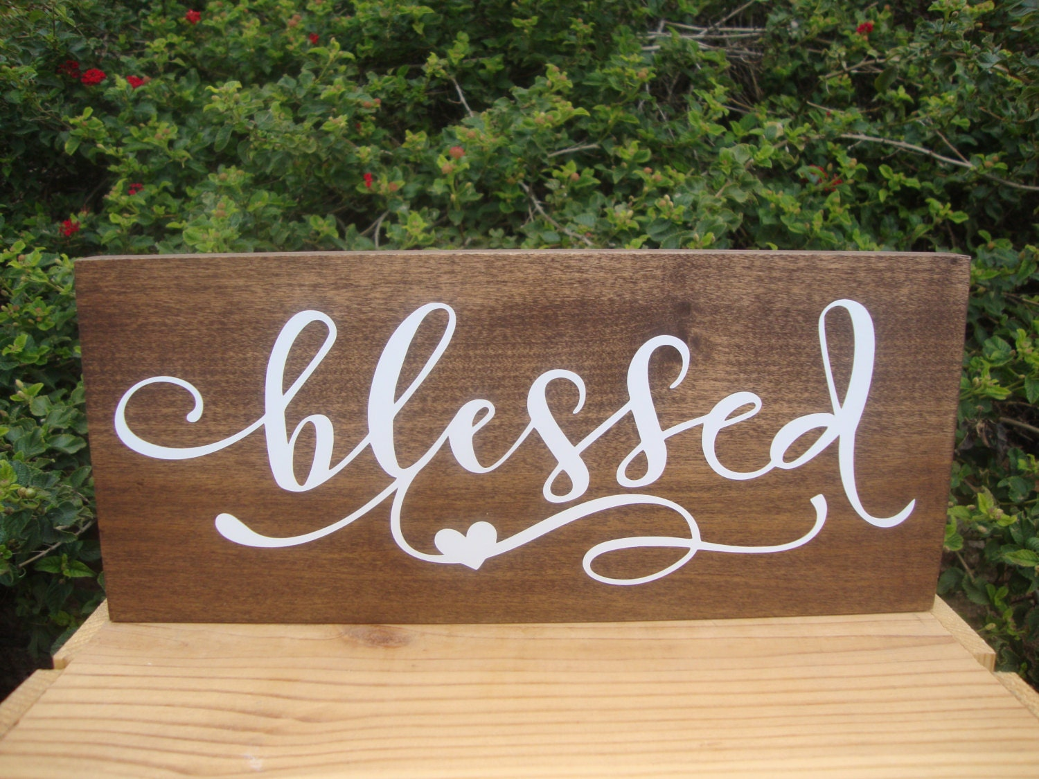Blessed Sign Wood Signs Wall Collage Rustic Wood Sign