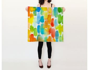 Orange Dash silk scarf 26x26
