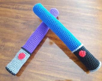 Crochet foam light sabers