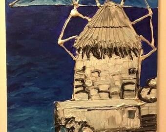 Windmill in the Aegean Sea, Greece