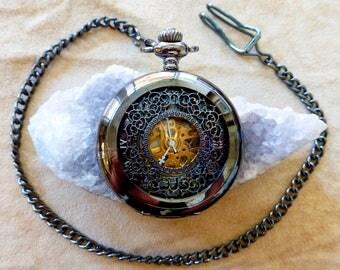 Majestic Pocket Watch - Gunmetal