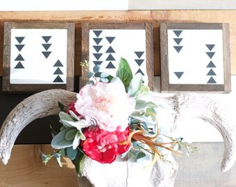 Tribal triangle 7x7 wooden sign