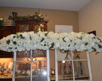Wedding Arch, Archway Swag, Wedding Ceremony Swag, Arbor Arch, Church Ceremony Swag,  Floral Arch, Hydrangea Arch, Floral Arbor