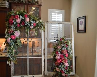 Wedding Arch SET, Floral Arch, Wedding Arch Decoration, Arch Flower , Wedding flower Chuppah flower, Peony Rose arch, Peony Arch,