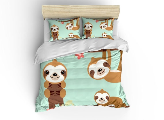 Sloth Duvet Cover Bedding Sets Comforter Bed Linens