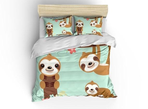 Sloth Duvet Cover Bedding Sets Comforter Bed Linens