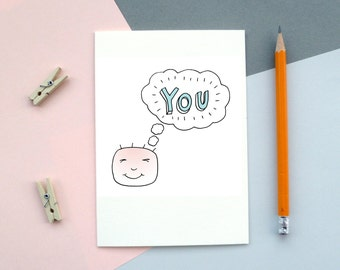 Thinking of You Card. A6 with envelope.