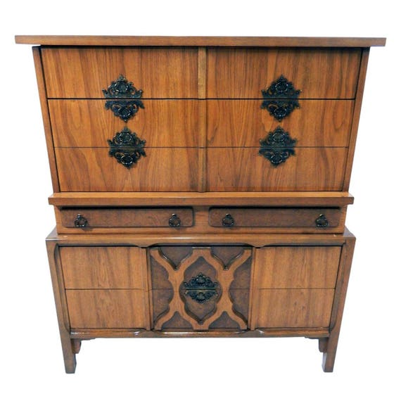 rare mid century modern chest of drawers dresser w moroccan. Black Bedroom Furniture Sets. Home Design Ideas