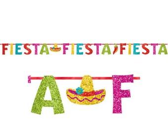 12 Foot Long Colorful Glittery Fiesta Party Banner - Candy Buffet Backdrop  Beautiful Fun Fiesta Party Decorations - Cinco de Mayo!