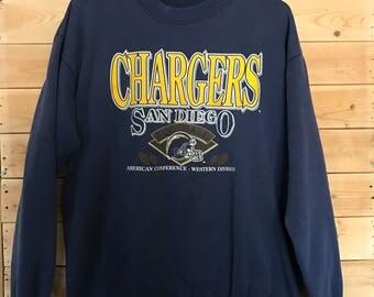 Vintage Chargers Sweatshirt // Vintage San Diego Chargers Sweater // Vintage NFL Sweatshirt