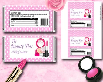 Makeup Chocolate Wrappers Instant Download Printable Chocolate Wrappers