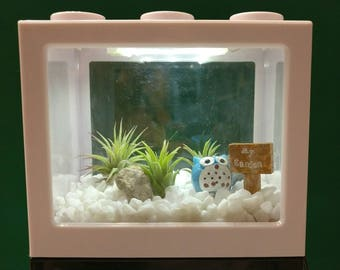 Desktop Lego Aquarium with LED light