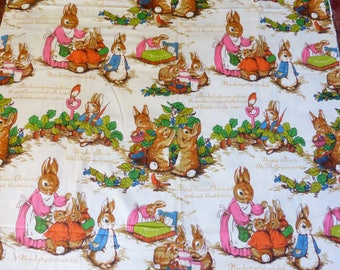 BY THE YARD, Beatrix Potter fabric, Peter Rabbit fabric