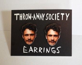 James Franco Earrings Stud Earrings Post Jewelry Accessoires Actor Face Earrings Head Fan Earrings Photo Picture