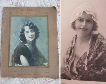 Enchanting 1920s photographic portrait journal of French beauties~Packed with stunning period photos~A wonderful, timeworn treasure