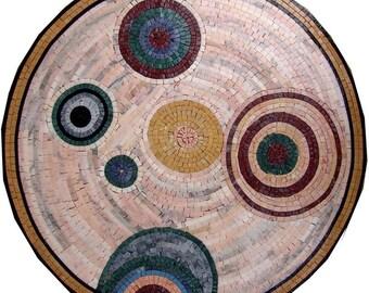Circles Marble Mosaic