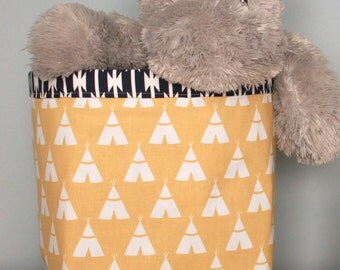 CUSTOM Fabric Basket or Fabric Bin - great for toy or clothes storage